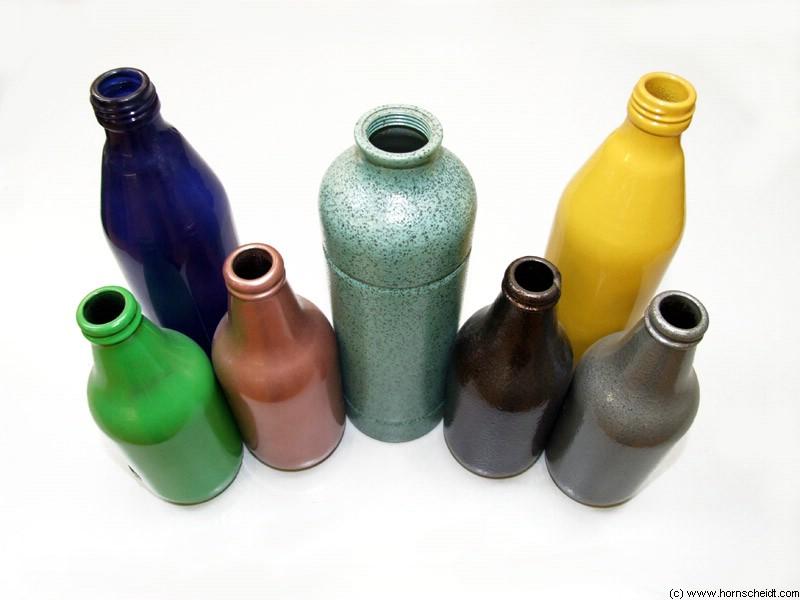 beschichtete Flaschen von Hornscheidt Pulverbeschichtung