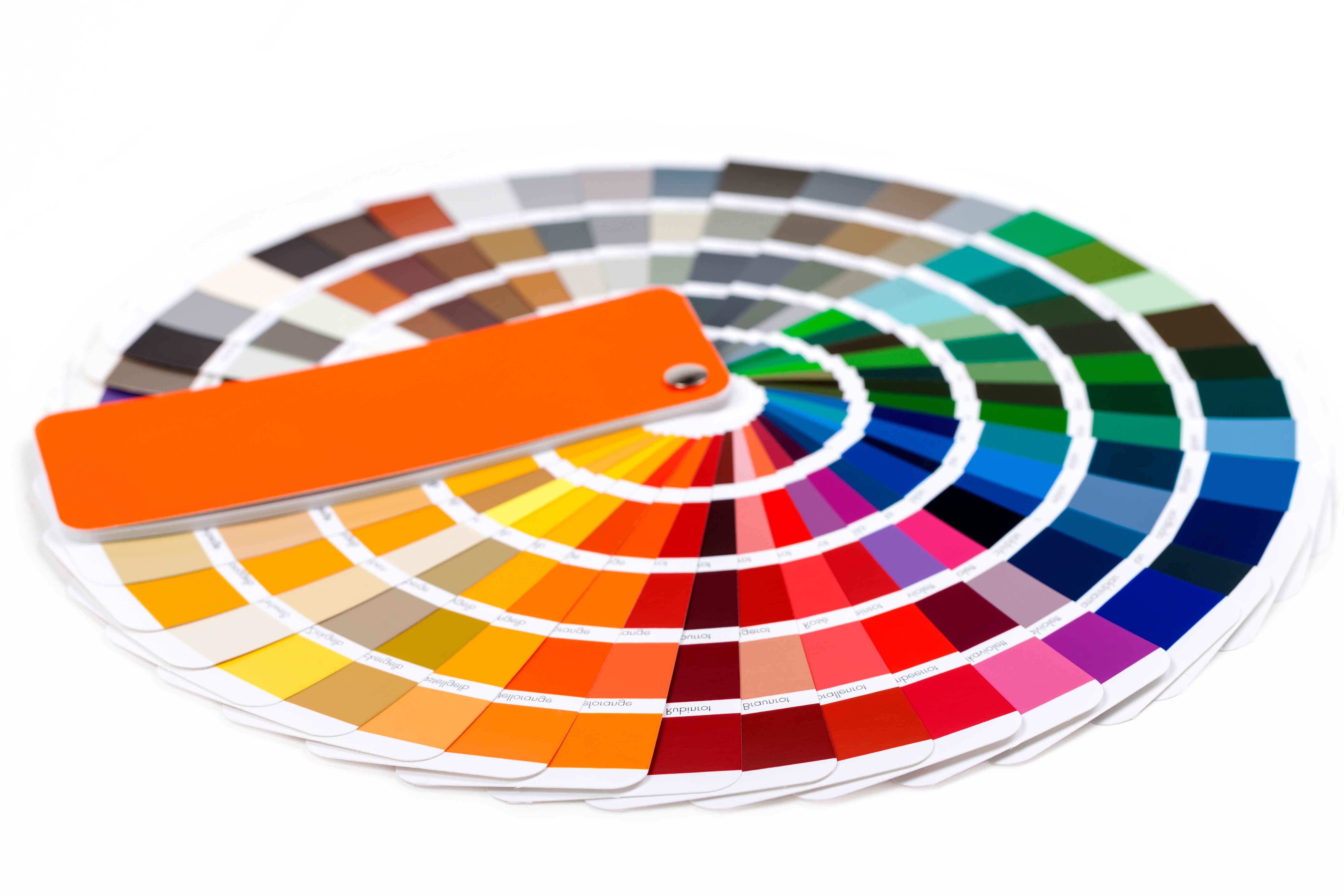 Farbpalette von Hornscheidt Pulverbeschichtung
